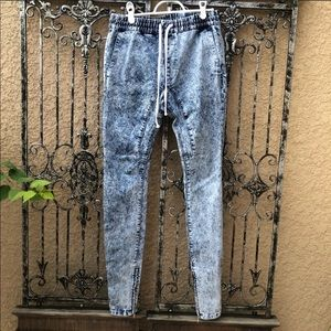[pacsun] edgy 80s 90s acid tapered denim jeans